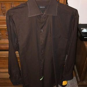 Brown dress shirt